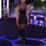 Julie J's Sims 4 CC Simblr — Vampire Dress Shortened by Julie J (Base Game)