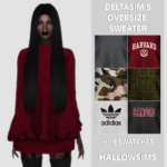 DeltaSim's Oversize Sweater – 25 swatches. -… – HallowSims