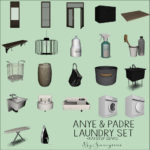 Sanoysims Anye Laundry Room Set