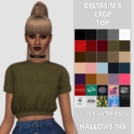 DeltaSim's Crop Top – 35 swatches. – All LOD's…. – HallowSims