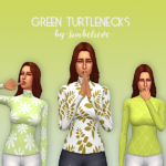 Green Turtlenecks The new turtlenecks are so… – believe in the simmies
