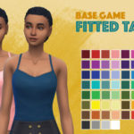 Just Keep Simmming — Another base game recolor! This fitted tank is my…
