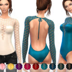 ekinege's Open Back Lace Bodysuit – Set19