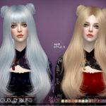 S-Club's sclub ts4 hair Lucy bun