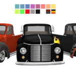 3T4 Rockabilly Hot Rod Truck | Sims 4 Designs