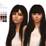 I'm all yours, Elzasims accessory bangs alpha edited by…