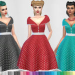 Colores Urbanos' Paloma dress RECOLOR polka dots (Needs mesh)