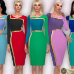 Harmonia's Colour-Block Pencil Dress