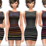 ekinege's Striped Fitted Dress