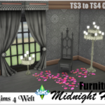 "Furniture Set ""Midnight Hollow"" – TS3 to TS4 Conversion"