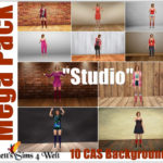 "Mega Pack – CAS Backgrounds ""Studio"""
