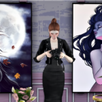 Jennisims: Downloads sims 4:Paintings Night Creatures (10designs)