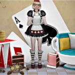Jennisims: Downloads sims 4:Alice Up Set Vol 48 Decoratives,Chair,Table Functional (7 items)