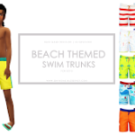 Beach Themed Swim Trunks for Boys – Onyx Sims
