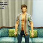 Julie J's Sims 4 CC Simblr — Male Bowling Shirt Edited (Base Game) by Julie J