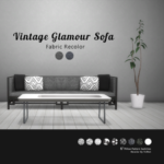 TS4 Hxt — [Texture Recolor]Vintage Glamour Sofa Download…