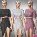 sims2fanbg's 323 – Boho Dress With Belt