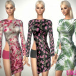 sims2fanbg's 327 – Open Spring Dress With Zip