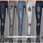 Jennisims: Downloads sims 4:Base Game compatible Jeans skinny