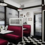 American Diner Part.2 by daer0n and slox (new meshes) | Sims 4 Designs