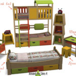 Around the Sims 4 | Custom Content Download | Tam-Tam kid bedroom with loft and bunk beds