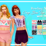 Bowling Night Crop Bow Top