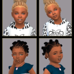 Here is a set of baby hair edges I created to go… – Playing Sims 4