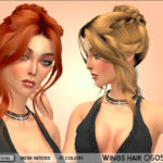 MahoCreations' Wings Hair OS0514F Recolor – mesh needed