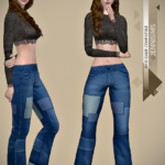 Jennisims: Downloads sims 4:Base Game compatible Jeans Patched