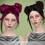 Jennisims: Downloads sims 4:Newsea Gaze Hair retexture