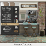 ~ Chicklet's Nest ~: Wine O'Clock Dining Set