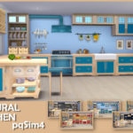 Natural Kitchen. Sims 4 Custom Content.