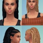 Birksche's Sims Blog — Herta TwistHair (Hugo twists conversion)