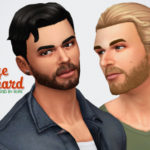 Un Sims au bout du fil. – Orage Beard for The Sims 4  My very first beard !…