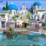 TanitasSims – Santorini Cafe community lot Lot Size:40×30 THANKS…