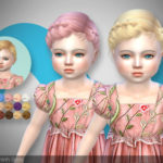 TsminhSims — LISA ( HAIR 31 – toddler ) Crown – Braid hairstyle…