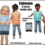 Fabienne -A Top for Toddler Girls- | GO TO… – Sims 4 Nexus