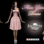 Miss yissi robe sims 4. pour elle. en 6 teintes…. – jomsimscreations.fr