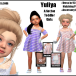Yuliya -A Set for Toddler Girls- | GO TO DOWNLOAD… – Sims 4 Nexus