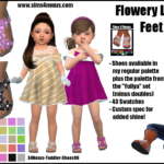 Flowery Little Feet -Shoes for Toddler Girls- | GO… – Sims 4 Nexus