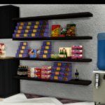 2T4 Beosboxboy Pantry Food + 1950's Water Cooler | Sims 4 Designs