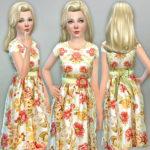 lillka's Orange Floral Dress
