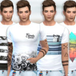 Pinkzombiecupcakes' Summer Tee Collection 010(Men)