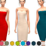 ekinege's Strapless Midi Tube Dress