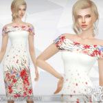 DarkNighTt's White Floral Print Dress