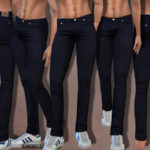 Pinkzombiecupcakes' Summer Dark Denim Jeans (Men)