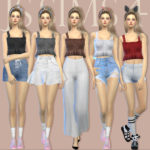[JS SIMS 4] Even In Dreams Cami Top | JS SIMS
