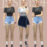 [JS SIMS 4] One-Shoulder Ruched Top | JS SIMS