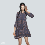 Loosefit Spring Dress_루즈핏 스프링 원피스_여자 의상 – SIMS4 marigold
