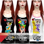 Jennisims: Downloads sims 4:Base Game compatible Tops,Shirt